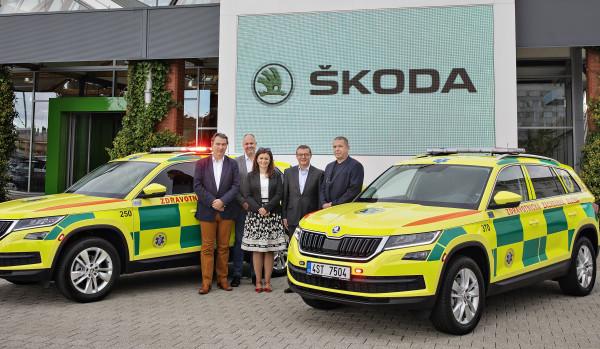 Nové Boleslavsko zdravější: 2 vozy Škoda Kodiaq pro Zdravotnickou záchrannou službu Středočeského kraje